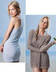 Style#: Cp76039 / Ck78007 Filippa Off the Shoulder Pullover / Gunilla Tank Dress