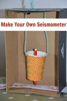 How to make a model seismometer. Make your own earthquake detection and quake measurement machine!  #earthquakes #seismometer #seismograph #idiscoverwhy #scienceisfun