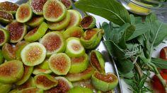 Figs from the garden at Villa le Barone , Panzano in Chianti