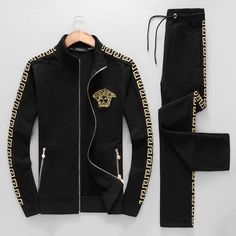 Versace Suits, Versace Fashion, Versace Men, Look Fashion, Mens Fashion, Fashion Outfits, Versace Tracksuit, Mens Casual Suits, African Clothing For Men