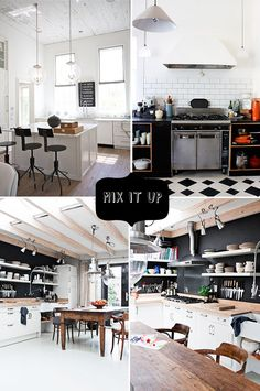 THRESHOLD-INSPIRED-KITCHEN  I'm eyeing the two bottom pictures. Love the industrial rustic bohemian feel.