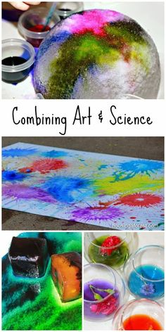 20 colorful activities that combine art and science for kids // 20 actividades coloridas que unen arte y ciencia Preschool Science, Science Fair, Teaching Science, Science For Kids, Teaching Art, Science Experiments, Science Classroom, Art For Kids, Mad Science