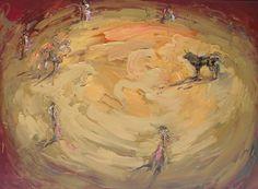 La vida de la pintura en los toros, 2011 Óleo sobre tela 190 x 260 cm