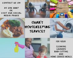 Trust us with your pre/post occupational cleaning needs, anywhere in Johannesburg please contact us on 060 855 0332 for a quote.  Ouma's housekeeping services provide quality housekeeping services with the understanding that our clients are unique.  Book a housekeeper today!! Home Meals, Housekeeper, Social Media Pages, Cleaning Services, Pre And Post, Babysitting, Trust, Quote, Unique