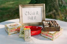 Hire a cigar roller to hand-roll a custom blend of tobacco just for your guests. (Great for outdoor weddings — and the guys will love the masculine touch!)