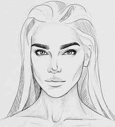 Pictures of easy realistic face drawing - Drawing Sketches, Art Drawings, Drawing Tips, Sketching, Face Sketch, Art Inspo, Realistic Face Drawing, Female Drawing, Woman Drawing