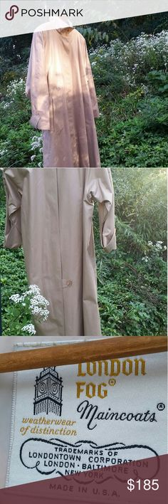 London Fog Maincoat Trench Coat Women's 12 Regular This very gently worn vintage London Fog trench/raincoat is perfect from transitional seasons. It is lightly lined and still has one of it's spare buttons. 65% Polyester 35% Combed Cotton. London Fog Jackets & Coats Trench Coats