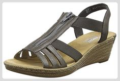 Rieker  62471-45,  Damen Sandalen , Grau - Grau - Größe: 41 EU - Sandalen für frauen (*Partner-Link)