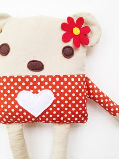 Bear Sewing Pattern Bear Doll Softie Toy PDF by GandGPatterns