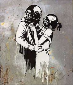Banksy Think Tank (Blur Album Cover Art) Graffiti