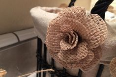 Burlap Roses by ladycne - Cards and Paper Crafts at Splitcoaststampers
