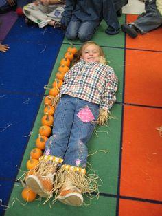 Nonstandard measuring--Measuring with pumpkins-
