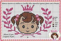 Coisinhas da Renata Cross Stitch Baby, Cross Stitch Animals, Cross Stitch Patterns, Stitch Doll, Little Stitch, Baby Crafts, Cross Stitching, Embroidery, Needlework