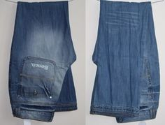 Genuine Bench Mens Womans Jeans 36W 34L Fashion Designer Navy Blue Trausers