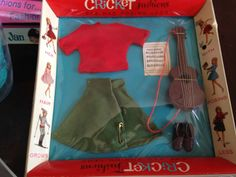 Vintage American Character Doll Cricket Fashion Accessories 1964 | eBay  I have vague-ish memories of this doll and looking at the packaging and artwork it seemes 'Cricket' was a 'Skipper' clone. Cute outfits, though.