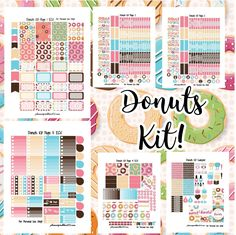Free Printable Donuts Planner Stickers