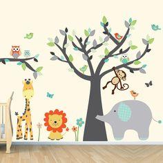 Tree Wall Decals Monkey Wall Decal Kids Wall by vinylartforwalls, $110.00