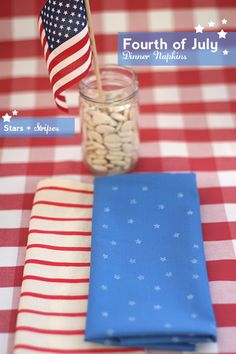 Stars and stripes napkins.