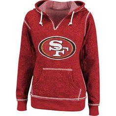 San Francisco 49ers Red Women's O.T. TD II Marled Hooded Sweatshirt