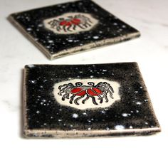 Flying Spaghetti Monster Ceramic Coasters or Wall Art Set by surly, $48.00