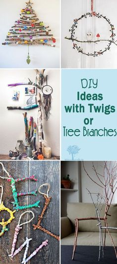 DIY Ideas with Twigs or Tree Branches. Lots of great ideas and projects. Give your home a cozy, rustic feel.