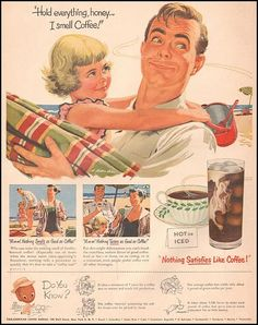 Funny vintage coffee ads.
