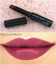 "Mary Kay Fall 2017 Color Collection | Lip Suede Lipstick in ""Mulberry Muse"": Review and Swatches"