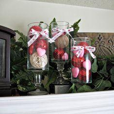 Valentines day jars - 25+ Valentine's Day Home Decor Ideas - NoBiggie.net