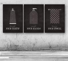 Brush your teeth Wash your hands Hang your by PrintableRandoms, $10.00