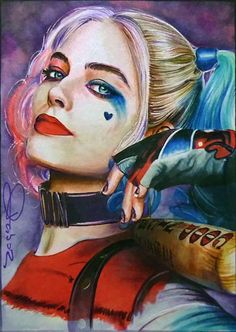 Image shared by Find images and videos about harley quinn, dc comics and suicide squad on We Heart It - the app to get lost in what you love. Joker Und Harley Quinn, Harley Quinn Tattoo, Harley Quinn Drawing, Margot Robbie Harley Quinn, Harley Quinn Cosplay, Joker Kunst, Harle Quinn, Images Disney, Joker Art
