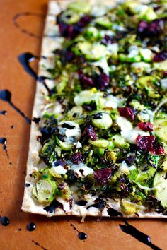 Crispy Shaved Brussels Sprouts Flatbread Pizza
