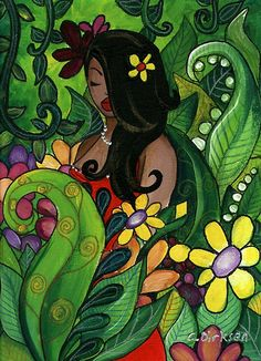 Trademark Fine Art 'Hawaiian Girl' Canvas Art by Cherie Roe Dirksen, Size: 35 x Green Beehive Pictures, Canvas Art Prints, Framed Prints, Sunset Canvas, South African Artists, Woman Painting, Canvas Frame, Canvas Size, Wrapped Canvas