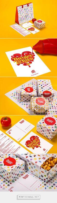 Playful Burger Bar Brand Identity With A 'Ketchup And Mustard' Logo - DesignTAXI.com