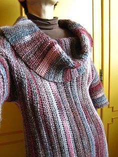 Ravelry: Side-To-Side Cowl Neck Sweater pattern by Lion Brand Yarn