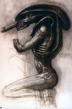 The Swiss artist H. Giger, has died aged best known for his the iconic 'Xenomorph' Alien. The top 5 H. Giger designs list, dedicated to his memory. Hr Giger Art, Hr Giger Alien, Xenomorph, Art Alien, Alien Artist, Art Noir, Alien 1979, 70s Sci Fi Art, Special Effects