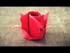 《折纸世界》玫瑰花 - YouTube