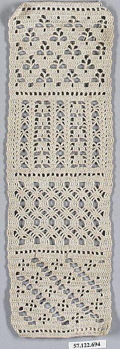 Cotton Sampler -- German, 19th century. love these stitches! ✿Teresa Restegui http://www.pinterest.com/teretegui/✿