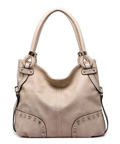 Loving this MKF Collection Apricot Embellished Hobo on #zulily! #zulilyfinds