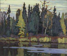 Lawren Harris - Algoma River Algoma Sketches CXL 10.5 x 13 Oil on panel