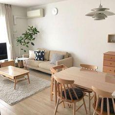 Room Furniture Design, Home Room Design, Home Interior Design, Living Room Designs, House Design, Muji Furniture, Japanese Interior Design, Condo Design, Furniture Ideas