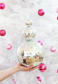 DIY Disco Ball Snowm