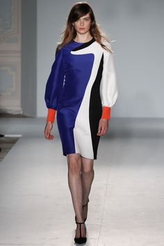 LONDON SPRING 2013 RUNWAY : ROKSANDA ILINCIC colour and movement in 60's inspired silhouettes with a throw back to the bishop sleeve