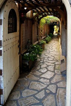California - Carmel-by-the-Sea: Carmel Door. Such a beautiful passageway.