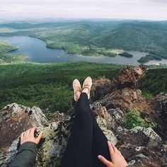 Sitting at the top of Mount Sagamook in Mount Carleton Provincial Park in New Brunswick, Canada // Photo by elisaparkranger // Pin curated by @seattlestravels for @explorecanada