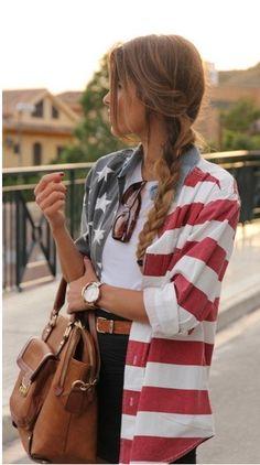 OASAP American National Flat Long Sleeve Blouse