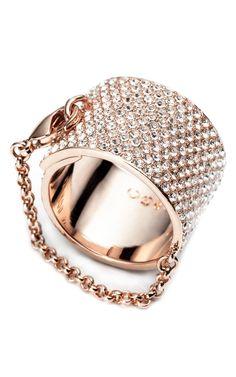 Shop Eddie Borgo Pavé Safety Chain Ring at Moda Operandi