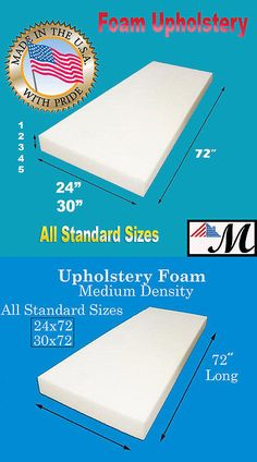 "Replacement Ironing Board Foam Sheet 60/"" x 20/"" x ¼/"" Upholstery Supplies."