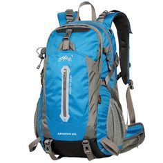 WATERFLY Waterproof Frame Backpack for Climbing Hiking Mountaineering Daypack >>> Find out more details by clicking the image : Hiking backpack