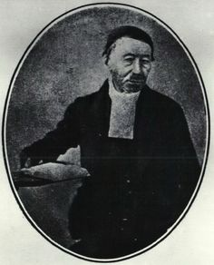 """Reverend Erasmus Smit, a misionary that married the sister of Voortrekker leader Gerrit Maritz. He and his wife Susanna  accompanied the Trek, and he served as first """"dominee"""" of the Voortrekker church in Pietermaritzburg"""