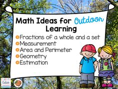 Quick outdoor math activities to do with your students!